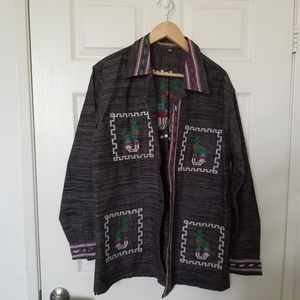 Southwestern Style Heavy Embroidered L/S Shirt XL